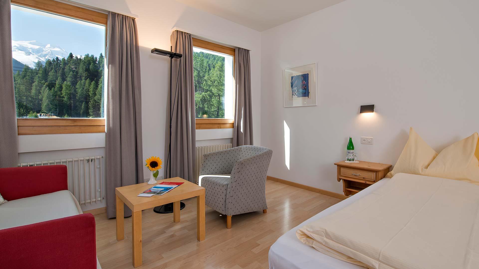 Hotel Morteratsch, Zimmer
